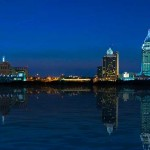 Mobile Alabama Skyline at Night