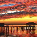 Mobile Bay Alabama Sunset